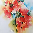 Poppies-3 by Bev  Wells
