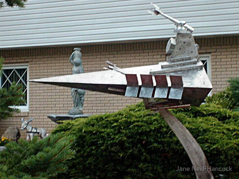 Everyone Needs an Imperial Star Destroyer in their front yard by Jane Neill-Hancock