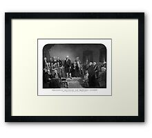 Washington Delivering His Inaugural Address Framed Print