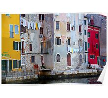 The Essence of Croatia - Pastel Houses of Rovinj Poster