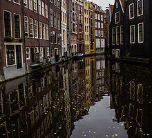 Amsterdam - Serene Fall Reflections by Georgia Mizuleva