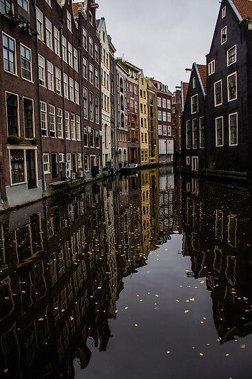 Amsterdam - Serene Fall Reflections by Georgia Mizuleva