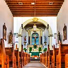 Ysleta Mission - Interior View by Ray Chiarello