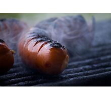 grilled sausages Photographic Print
