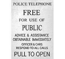 TARDIS Door Sign Photographic Print