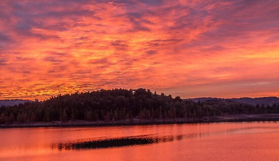 Gorgeous sunrise over Lake Cardinia by lotsa50