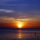 Sunset on Seven Mile Beach by yobab
