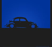 Volkswagen Beetle - Blue on dark by uncannydrive