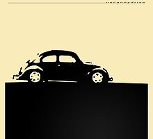 Volkswagen Beetle - Black on light by uncannydrive