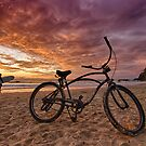 Sunset and bike by Cheryl Styles