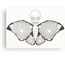 Mandala Death Moth Canvas Print