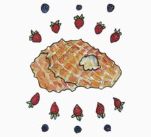 waffles and fruit by Ashley Peppenger