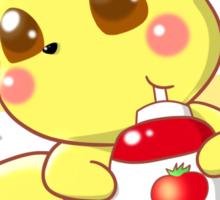 Pikachu & Tomato Ketchup Sticker