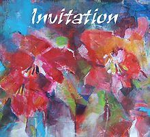 Invitation Cards - Art - Flowers by Ballet Dance-Artist