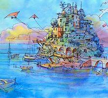 Paesaggio di fantasia by Luca Massone  disegni
