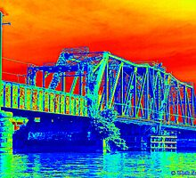 Railroad Bridge on the Potomac by Thad Zajdowicz