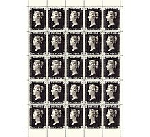 Penny Black Stamp (1d) 1840 Photographic Print