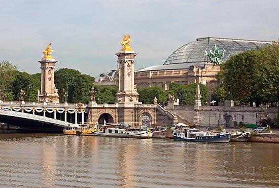 Pont Alexandre III  and Grand Palais - Paris France by Buckwhite