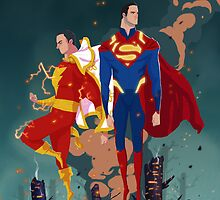 Superman & Shazam by Nicolas Rix