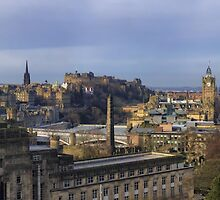 City of Edinburgh from Calton Hill (Panorama) by Miles Gray