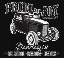 Pride and Joy Hot Rod Garage dark bkg by htrdesigns