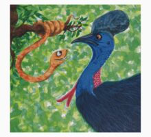 Edgar meets Cassowary by Monica Batiste