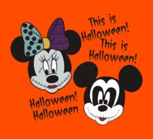 Mickey & Minnie as Sally & Jack This is Halloween by sweetsisters