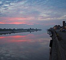 Sundown on the Quayside by Luke-Woods