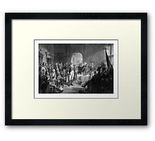 Washington Meeting His Generals Framed Print