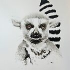 Lemur portrait by Paul Fearn