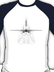 Grumman F-14 Tomcat Top/Front Views T-Shirt