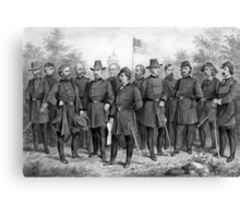 Union Generals of The Civil War Canvas Print