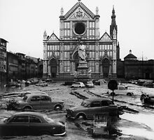 View of the Piazza Santa Croce after the flood of Florence by Bridgeman Art Library