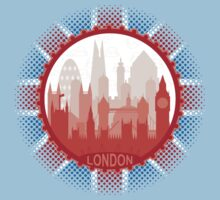 London City Skyline - black Kids Clothes