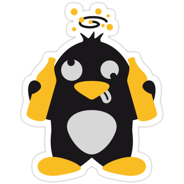 Drunken Party Penguin by Style-O-Mat