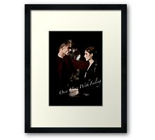 Spike And Buffy - Once More With Feeling Framed Print