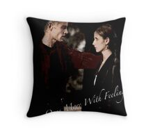 Spike And Buffy - Once More With Feeling Throw Pillow