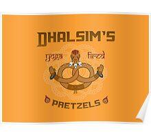 Street Vendor 2- Dhalsim's  yoga fired Pretzels Poster