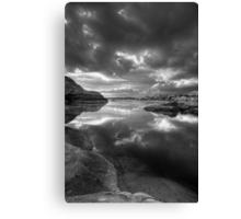 Granite Monsoon BW Canvas Print