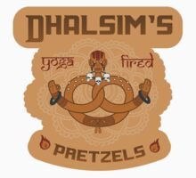Street Vendor2 Dhalsim's Yoga fired Pretzels (sticker) by RootBeerRobot