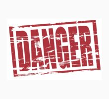 Danger red rubber stamp by stuwdamdorp
