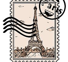 Paris Stamp by pda1986