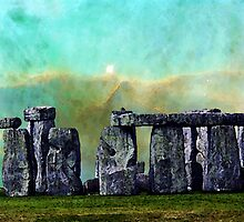 Building A Mystery 2 - Stonehenge Art By Sharon Cummings by Sharon Cummings