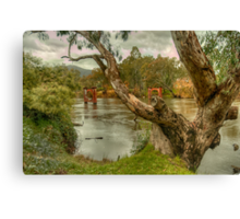River Bend  Upper Murray - Jingelic NSW - The HDR Experience Canvas Print
