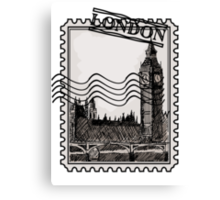London Post Stamp Canvas Print