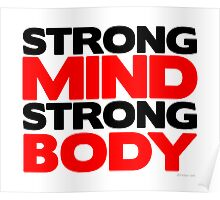 Strong Mind Strong Body | Fitness Slogan Poster
