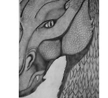 Eragon: Saphira pencil drawing by Kate Fraser
