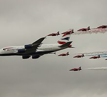 British Airways and the Red Arrows by chrismk