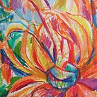 Orange expressive flower detail by VicCollider