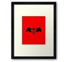 Batman/Superman Logo (DC Comics) Framed Print
